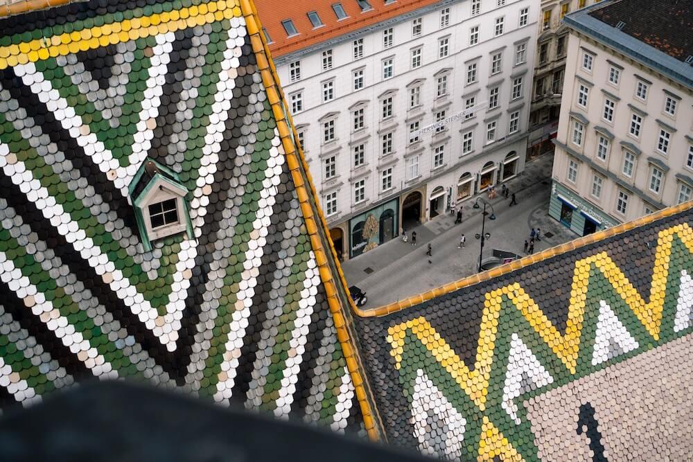 Wien, Stephansdom von oben
